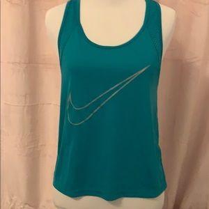 Blue Nike running tank top